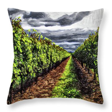 Pretty Maids All In A Row Throw Pillow