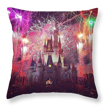 The Happiest Place On Earth  Throw Pillow by Kate Arsenault