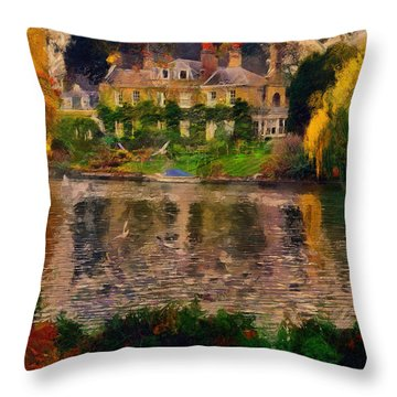 Pretty On The River Throw Pillow