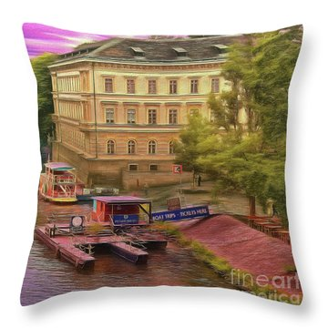 Pretty On The River - Prague Throw Pillow