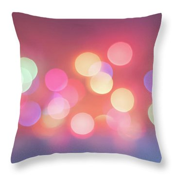 Pretty Pastels Abstract Throw Pillow by Terry DeLuco