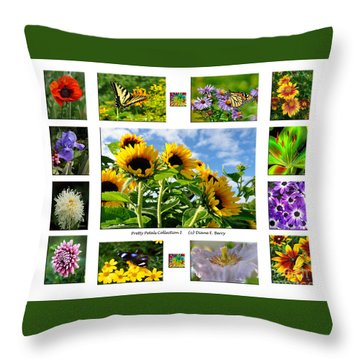 Pretty Petals Collection I Throw Pillow by Diane E Berry
