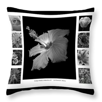 Throw Pillow featuring the photograph Pretty Petals Collection II by Diane E Berry