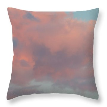 Throw Pillow featuring the photograph Pretty Pink Clouds by Ana V Ramirez