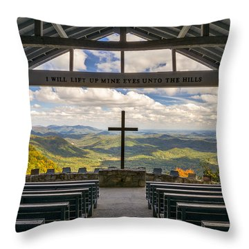 Pretty Place Chapel - Blue Ridge Mountains Sc Throw Pillow