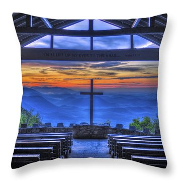 Pretty Place Chapel Sunrise 777  Throw Pillow