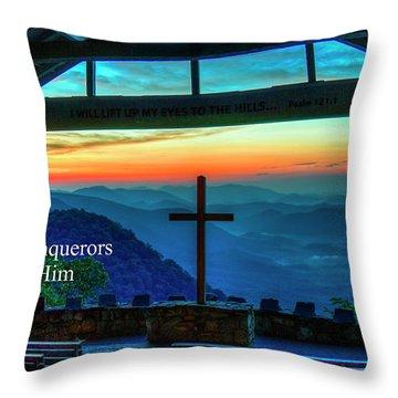 Pretty Place Chapel Through Him Art Throw Pillow