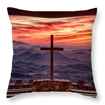Pretty Place Sunrise Throw Pillow