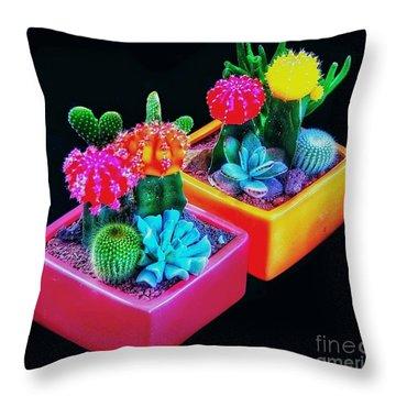 Pretty Prickles Throw Pillow by Blair Stuart