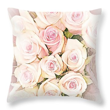 Pretty Roses Throw Pillow