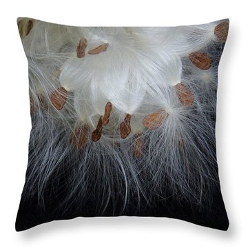 Pretty Seeds -ugly Weeds Throw Pillow