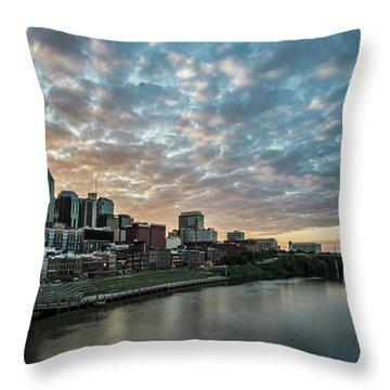 Pretty Sky And Nashville Skyline Throw Pillow