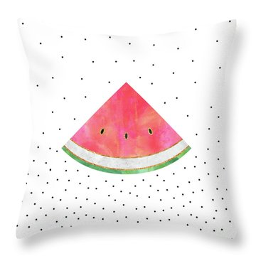 Pretty Watermelon Throw Pillow by Elisabeth Fredriksson