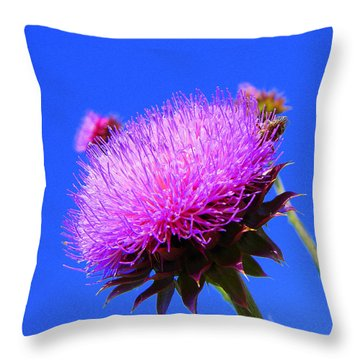 Pretty Weed Throw Pillow
