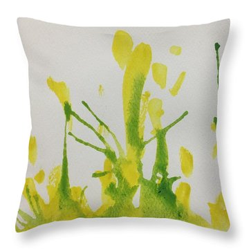 Pretty Weeds Throw Pillow