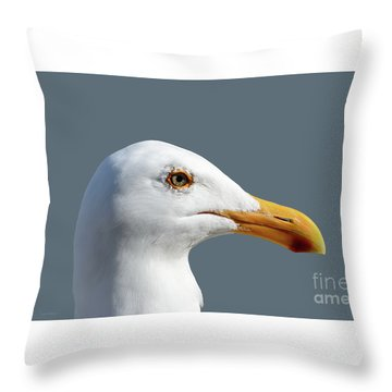 Throw Pillow featuring the photograph Pretty Western Gull In Profile by Susan Wiedmann