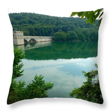 Prettyboy Reservoir Dam Throw Pillow