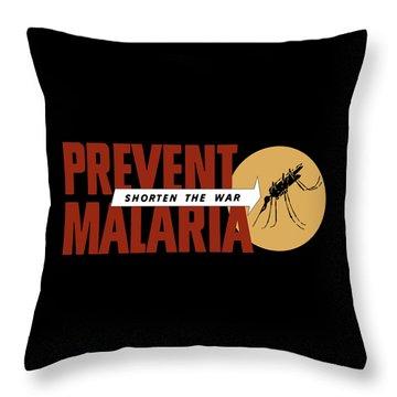 Prevent Malaria - Shorten The War  Throw Pillow by War Is Hell Store