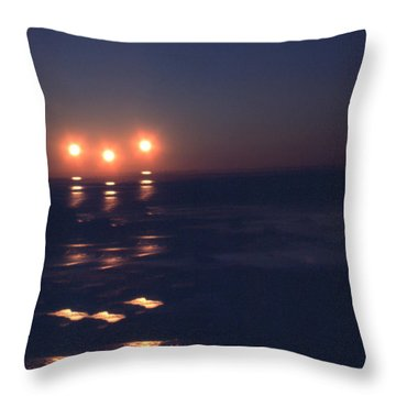Preventing Sunset Throw Pillow