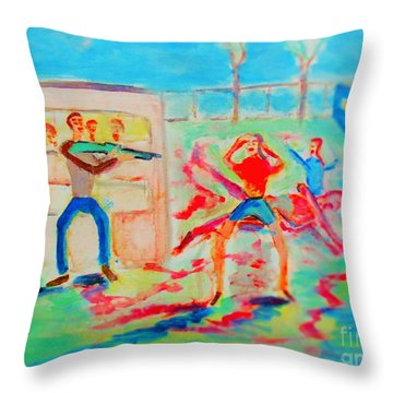 Prevention Of Shootings Memorial Throw Pillow