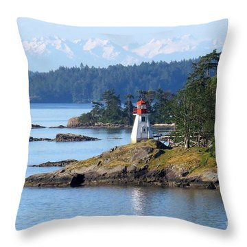 Prevost Island Lighthouse Throw Pillow