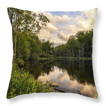 Price Lake Sunset - Blue Ridge Parkway Throw Pillow