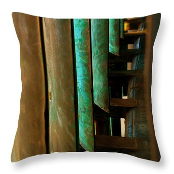 Price Tower Copper Detail 2 Throw Pillow