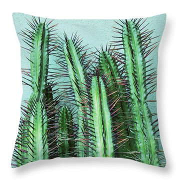 Prick Cactus Throw Pillow