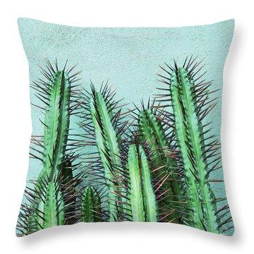 Prick Cactus Throw Pillow