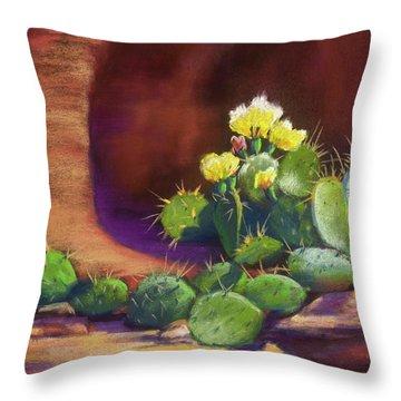 Pricklies On A Ledge Throw Pillow