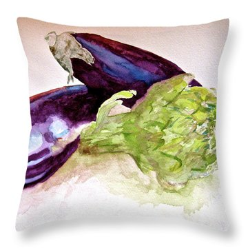 Throw Pillow featuring the painting Prickly And Voluptuous by Beverley Harper Tinsley