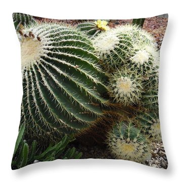 Prickly Cactii Throw Pillow