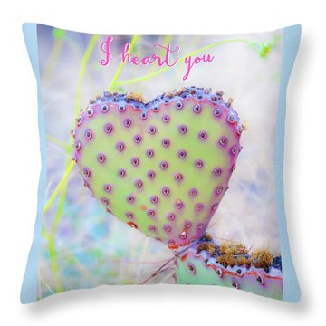 Prickly Heart Throw Pillow by Karen Stephenson