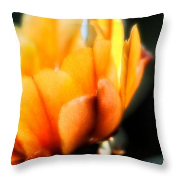 Throw Pillow featuring the photograph Prickly Pear Flower by Lynn Geoffroy