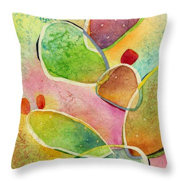 Throw Pillow featuring the painting Prickly Pizazz 1 by Hailey E Herrera