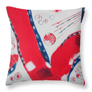 Throw Pillow featuring the painting Pride - Glory - The Patriots by Sharyn Winters