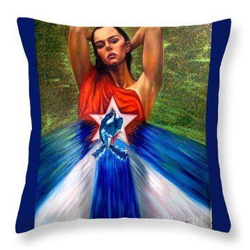 Pride Throw Pillow by Jorge L Martinez Camilleri