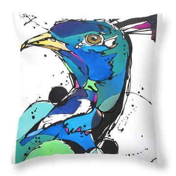 Throw Pillow featuring the painting Pride by Nicole Gaitan