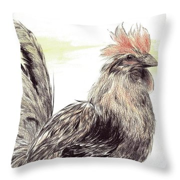 Pride Of A Rooster Throw Pillow