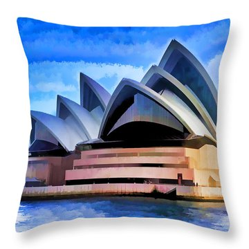 Pride Of Sydney Throw Pillow by Dennis Cox WorldViews