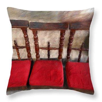 Prie Dieu - Prayer Kneeler Throw Pillow by Enzie Shahmiri