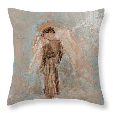 Priest Angel Throw Pillow