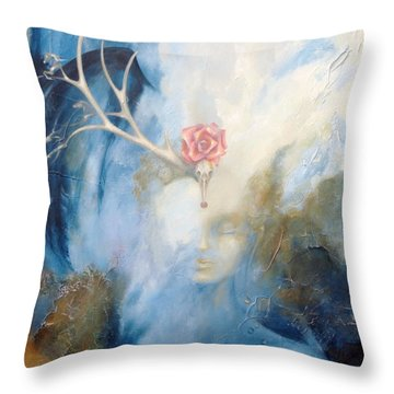 Priestess Throw Pillow by Dina Dargo