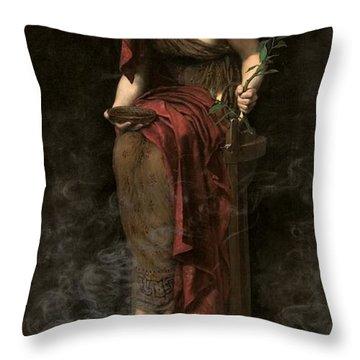 Priestess Of Delphi Throw Pillow
