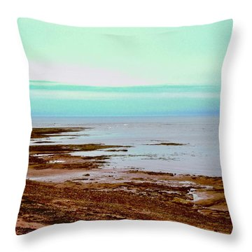 Prim Point Beach Throw Pillow