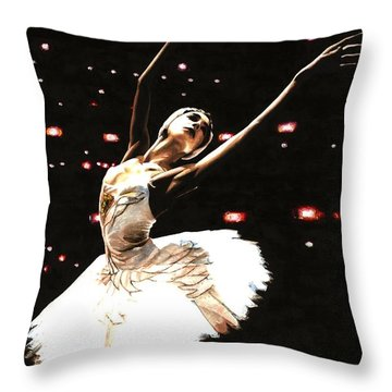 Prima Ballerina Throw Pillow by Richard Young