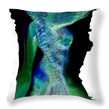 Primal Spring Night Throw Pillow