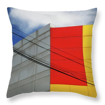 Throw Pillow featuring the photograph Primarily 1 by Skip Hunt