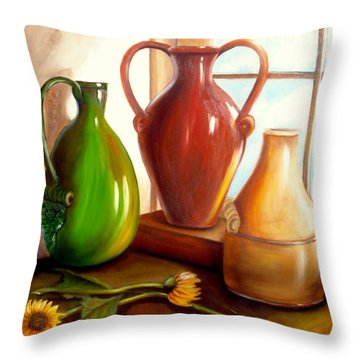 Primarily Jugs. Sold Throw Pillow