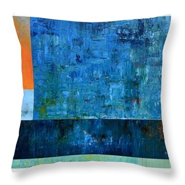 Throw Pillow featuring the painting Primary - Artprize 2017 by Michelle Calkins
